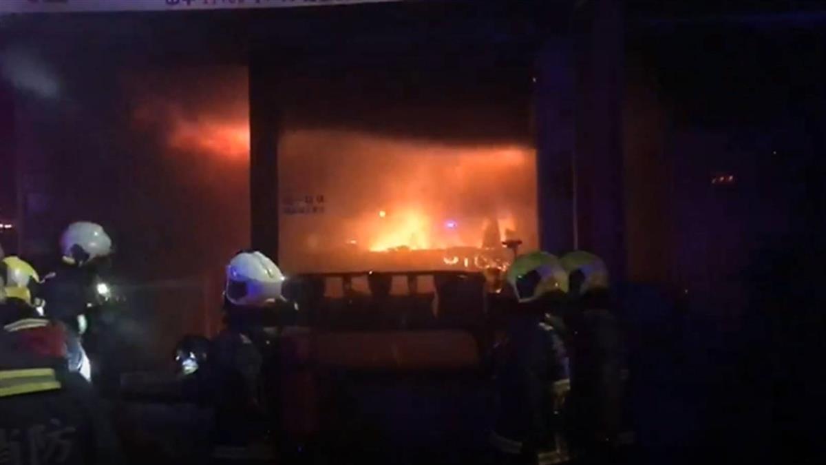 北投工廠大火延燒公寓 2女救出無呼吸心跳