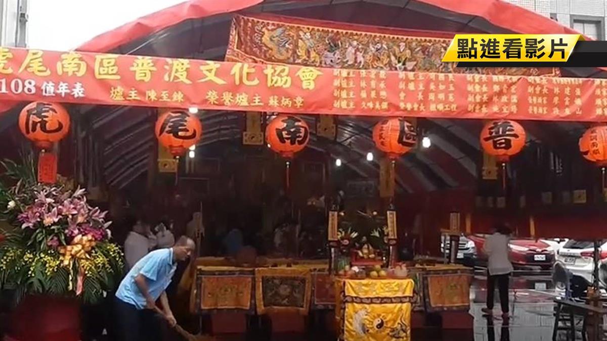 虎尾中元普渡超過1500桌 特生中心拜飼料