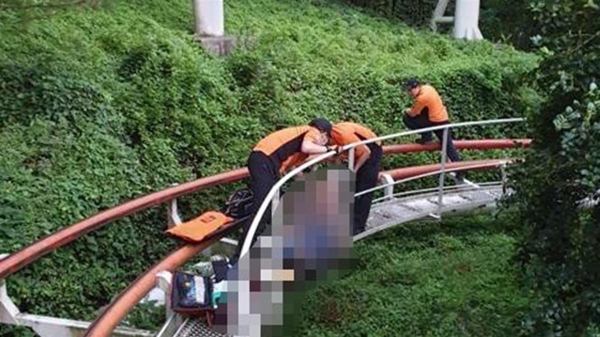從雲霄飛車摔落!24歲男呼救沒人理 右腿遭切斷