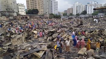 孟加拉貧民窟傳火警 5萬人無家可歸