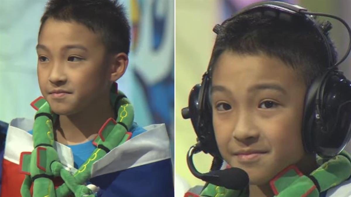 奪寶可夢世界冠軍杯!台10歲男孩披國旗領獎