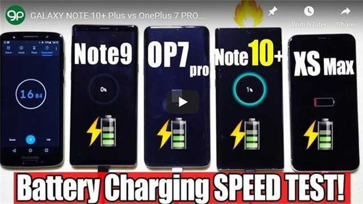 iPhoneXS輸慘了!三星Note10+充滿電只要1小時