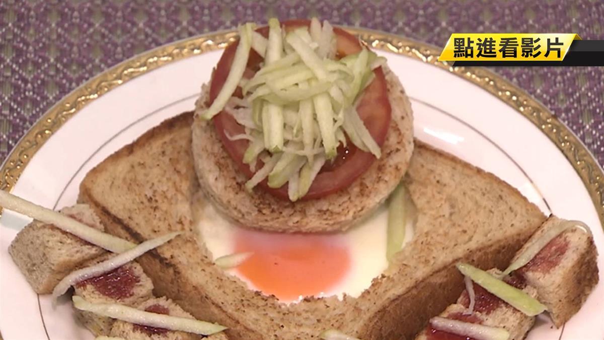 創意新吃法!吐司乾煎 變漢堡加薯條