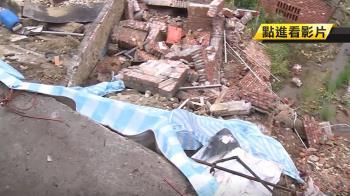 才因雨崩坍近50坪 急難救助站工廠又忙防颱