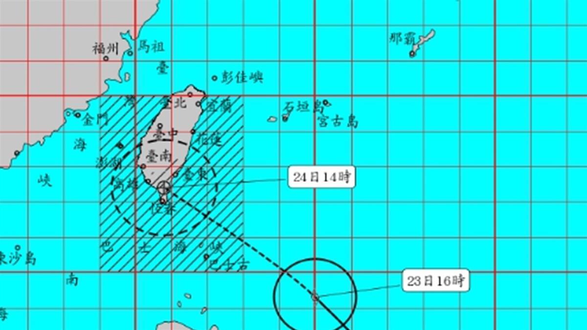 4縣市陸警!白鹿距台灣530km 7縣市風力達標