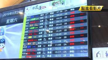 白鹿風雨強!台鐵花東線停駛 七星潭浪捲5米高