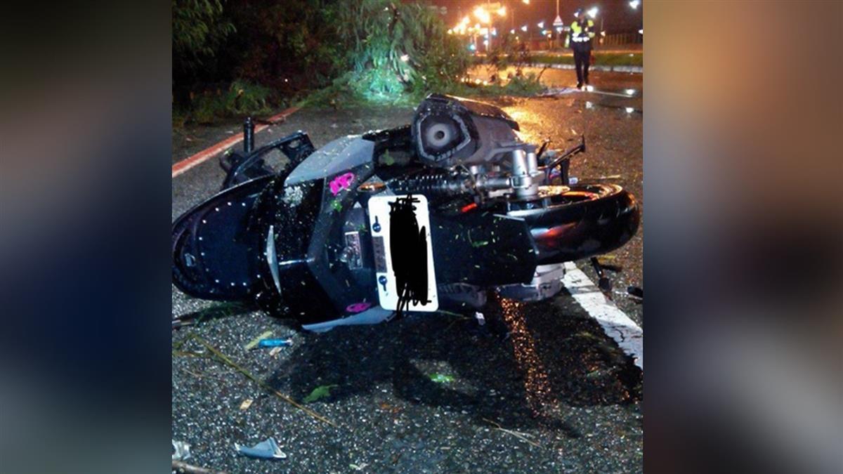 颱風吹倒路樹!台南機車騎士遭刺穿胸部亡