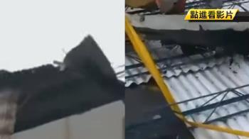 白鹿挾狂風!台東鐵皮遭吹落直砸地