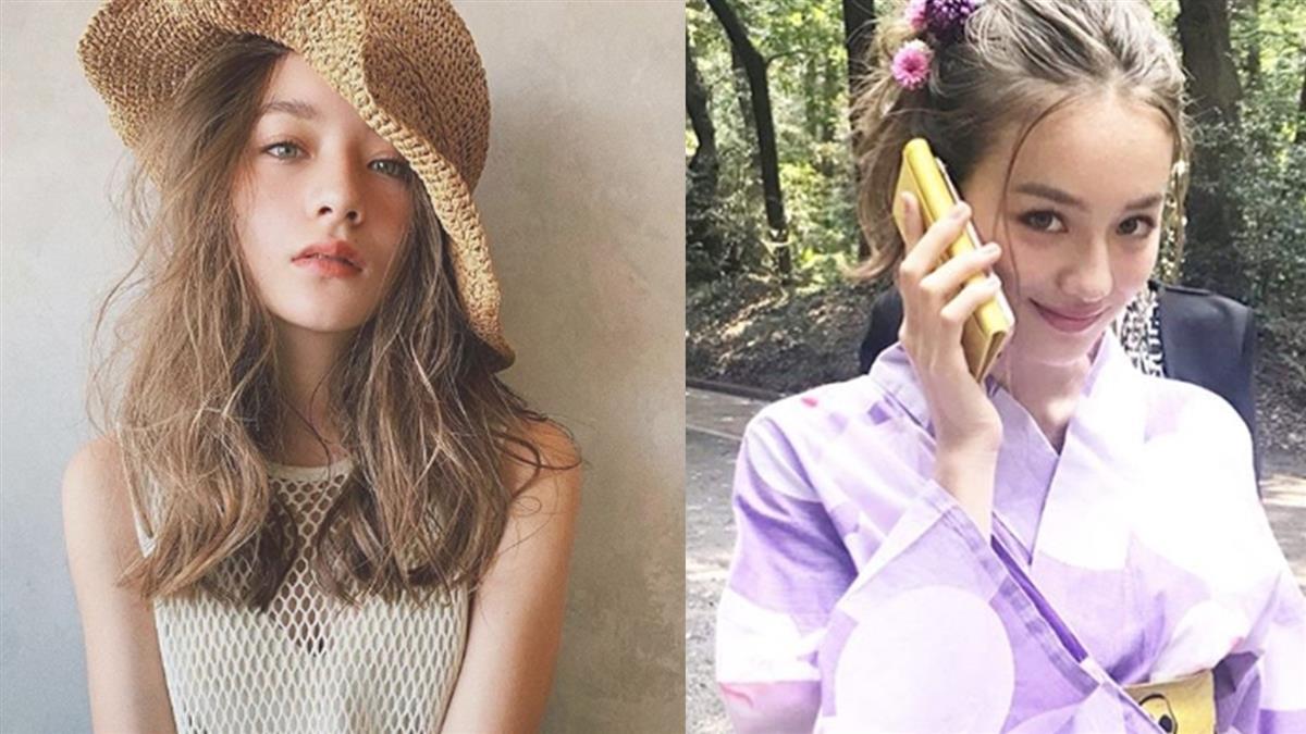 日本奇蹟13歲!混血國中妹暑假打工 震撼時尚圈