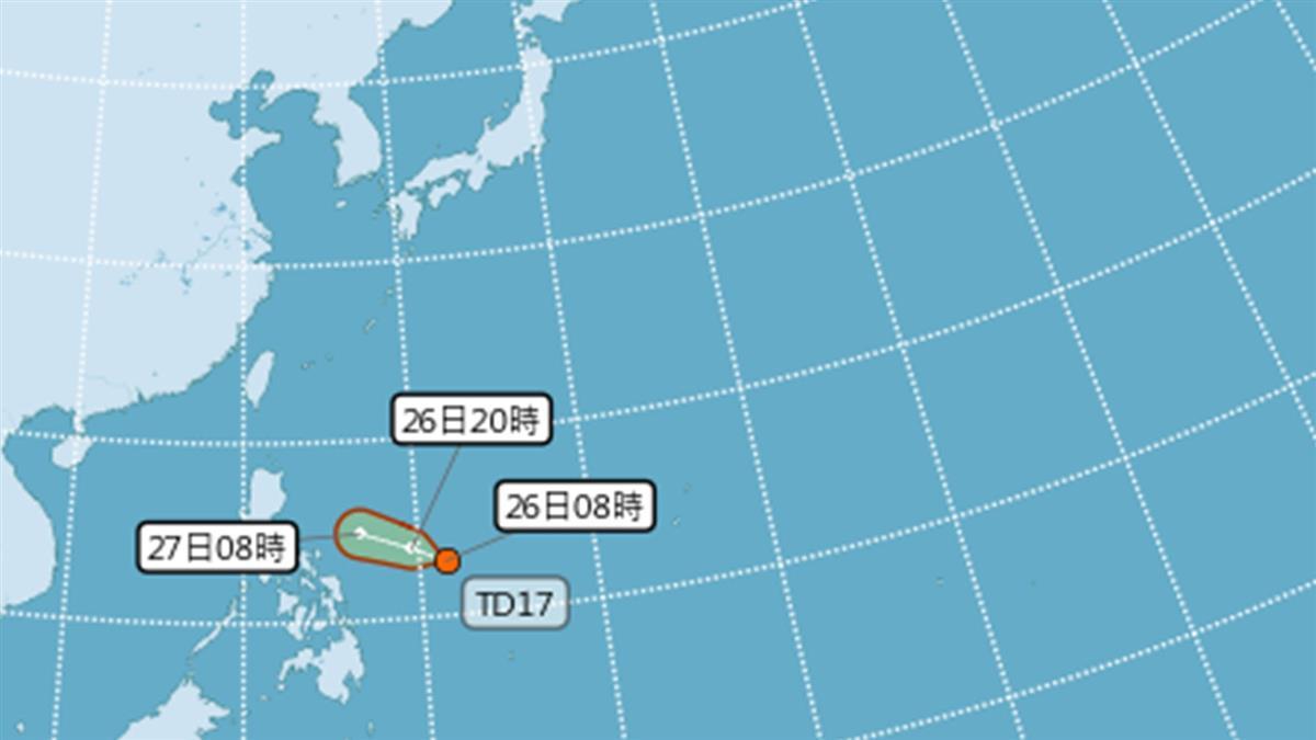 又有熱帶低壓生成了! 最快明變颱風「楊柳」