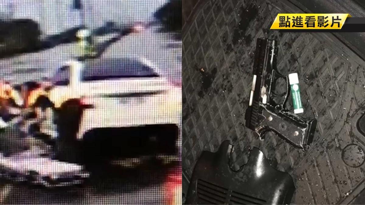 男子和女友吵架…開車自撞!被警察撿到槍