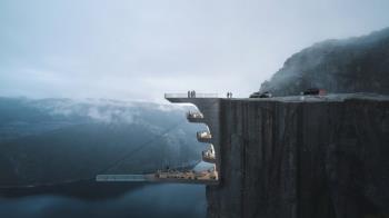 挑戰膽量!座落604公尺懸崖「懸空透明泳池」將登場