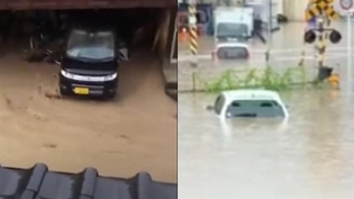 九州暴雨78萬人避難!土石流衝民宅 車滅頂
