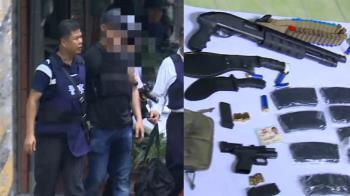 嘉義警匪對峙5小時!嫌擁145顆子彈、8槍投降