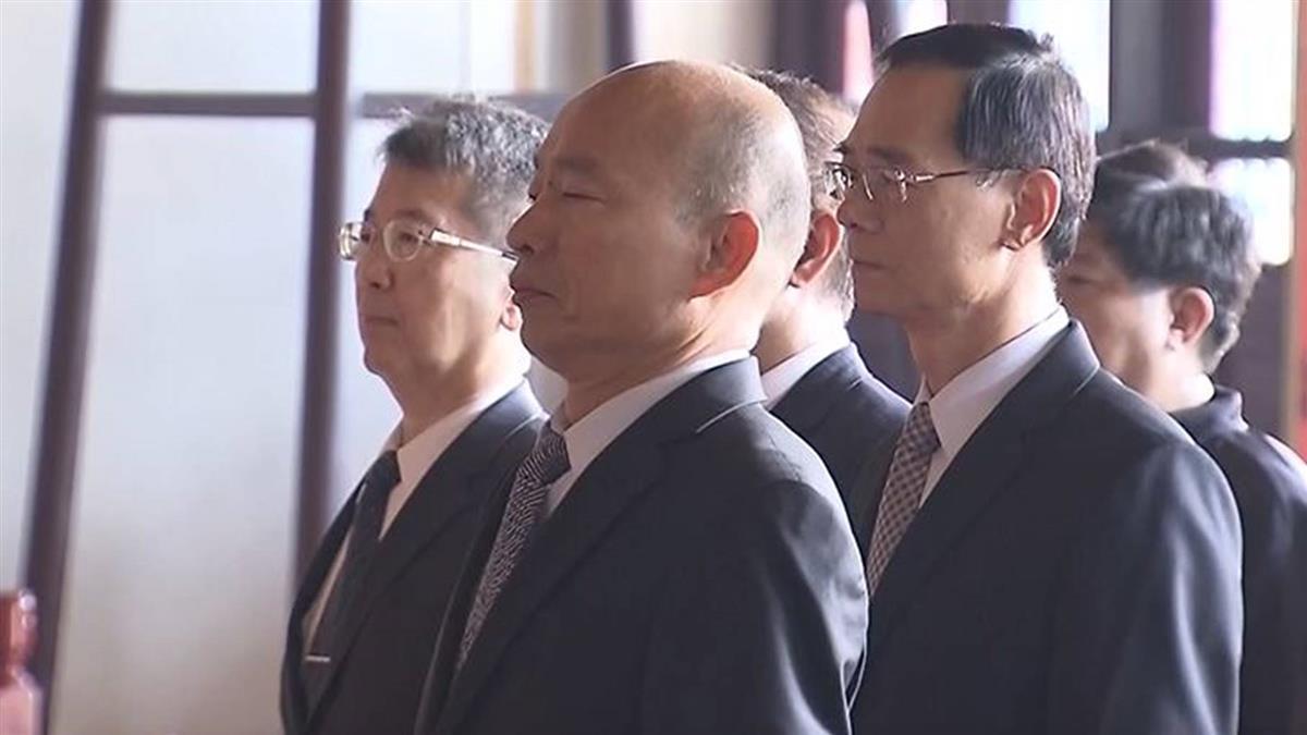 軍人節韓國瑜忠烈祠致意 支持者喊加油