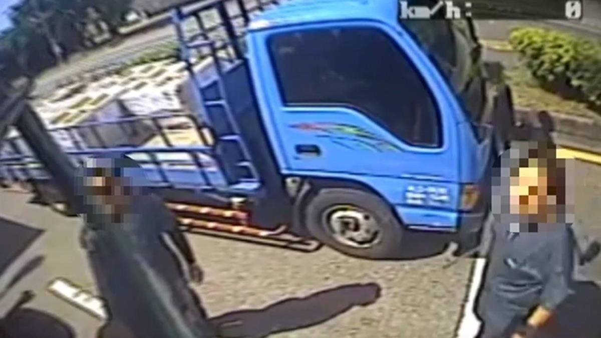 貨櫃車搶道爆糾紛 駕駛指控遭同行堵路圍毆