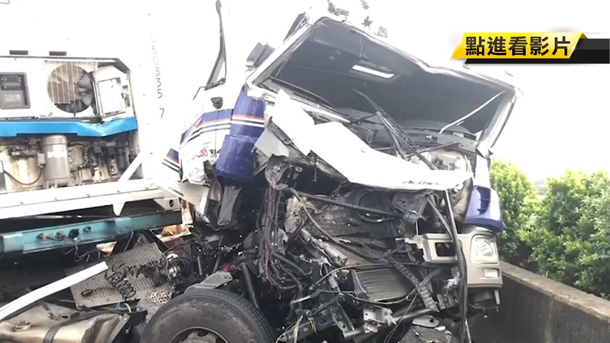 國道4大車追撞成一團 釀1死1傷