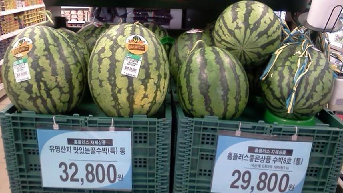 一顆西瓜要價500元!在韓國買這些東西超貴