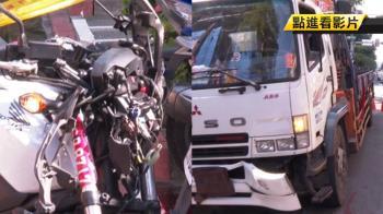 擦撞機車再撞貨車!22歲重機騎士魂斷東區街頭