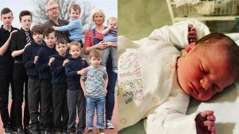 等了18年!39歲媽連生10男產女嬰:家庭完整了