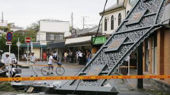 法西颱風襲日!強風豪雨狂襲 關東約45萬戶停電