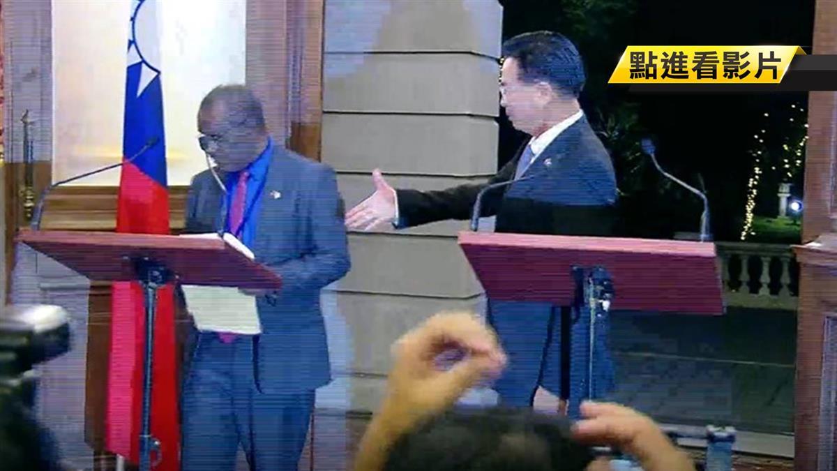 破斷交傳言!索國外交部長訪台 與蔡英文談話