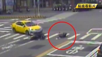 趕買烤肉用具!22歲騎士遭小黃撞飛翻滾倒地