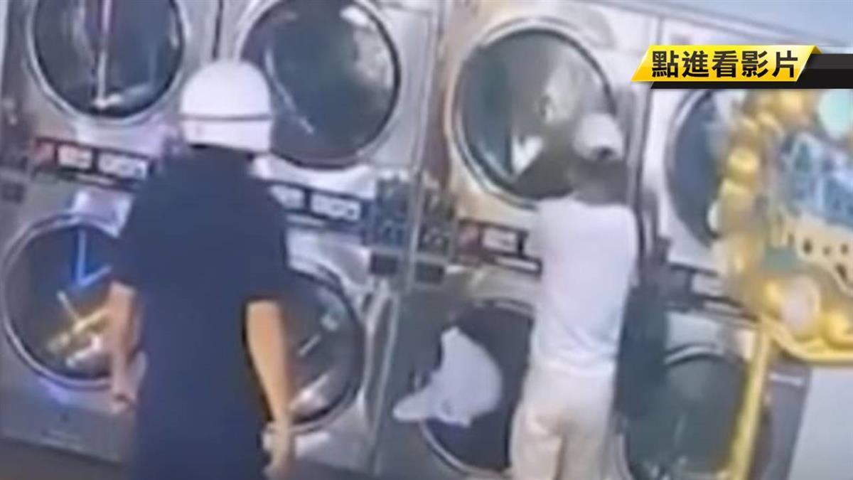 警察站背後!口罩賊洗衣店偷一半落網送辦
