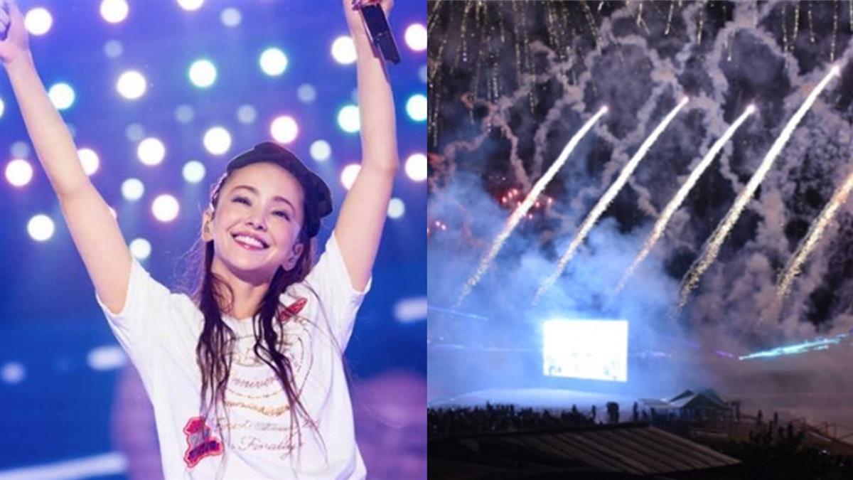 安室奈美惠引退1周年 1萬發煙火照亮沖繩夜空