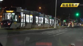 高雄輕軌二階段列車 深夜進行6車班測試