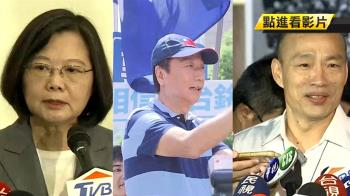 郭台銘棄選 平媒民調:蔡贏韓10.2%