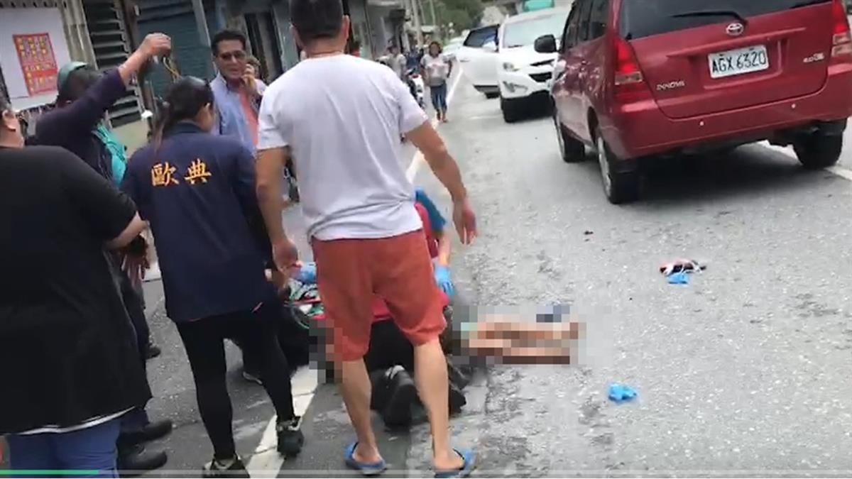 6歲男遭重機撞…倒地腿染血!急救畫面曝光