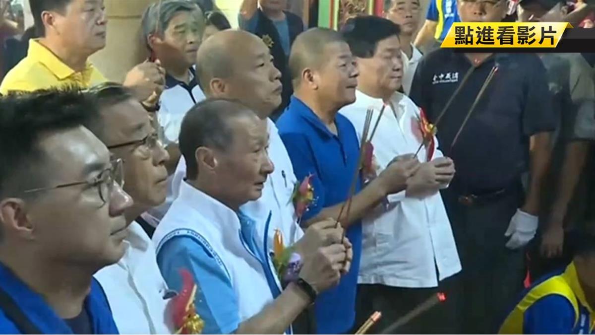 韓國瑜連兩周衝台中 紅黑派大老集結力挺