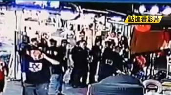 疑不滿遭檢舉 40多名黑衣人聚集青年夜市稱租攤位