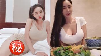 韓國巨乳私密床照流出!正妹嬌嗔:這邊又濕了