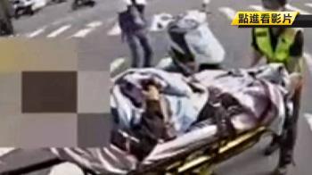 酒駕撞貨車!騎士彈飛嘴噴血急送醫 嚇壞司機