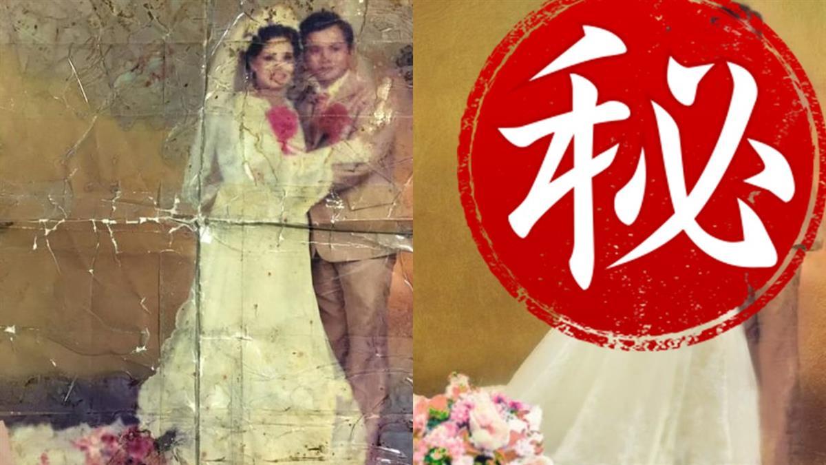 父母舊婚紗照…他想放爸告別式 神人完美修復