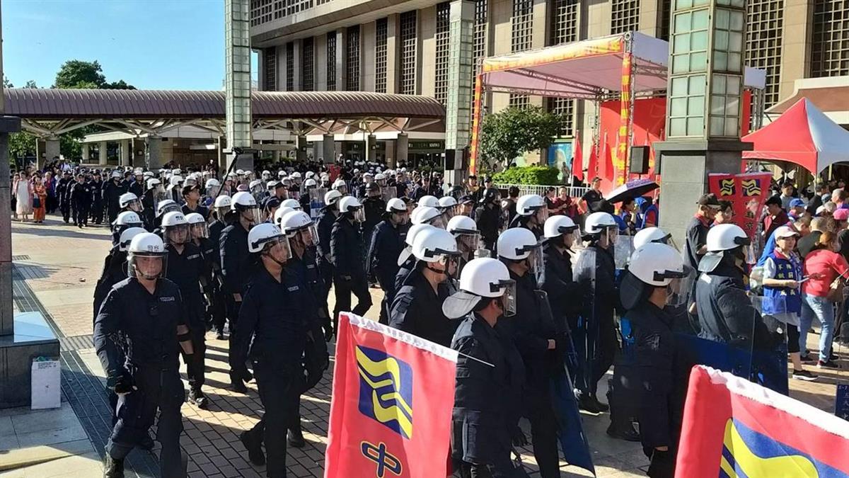 中華統一促進黨未申准集會 北市警局依法嚴辦