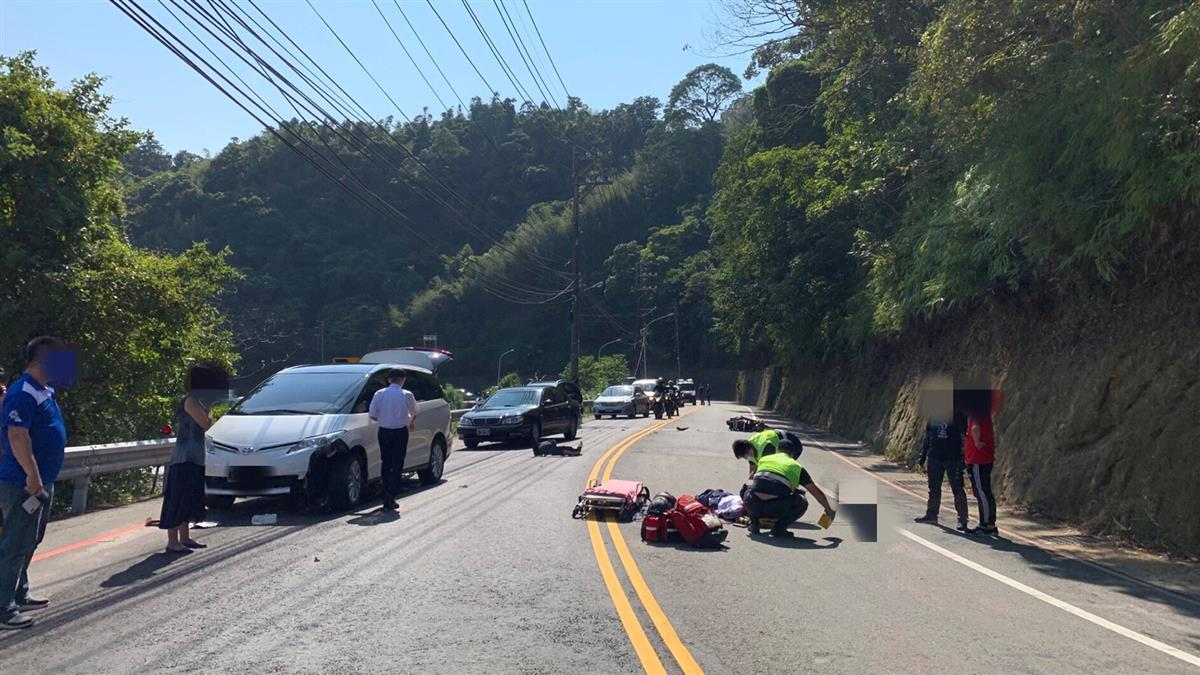 三峽車禍!少年無照雙載自摔 後座男彈飛遭撞身亡