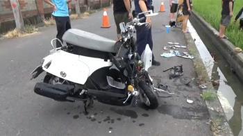 電線桿染血!19歲獨子騎車自撞亡 父母認屍哭癱