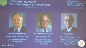擺脫化石燃料 發展鋰離子電池獲諾貝爾化學獎