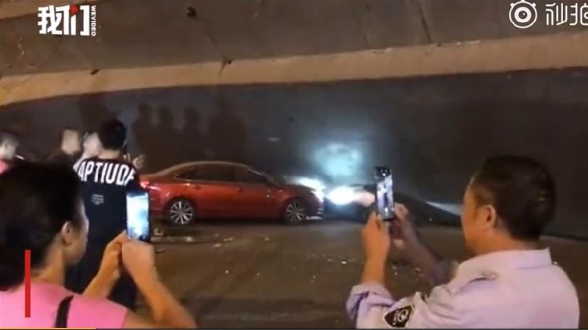 最新!江蘇無錫高架橋壓爛3車 倒塌原因曝光