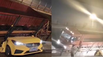 一刀切下!無錫斷橋釀3死 幼園母女困斷頭車