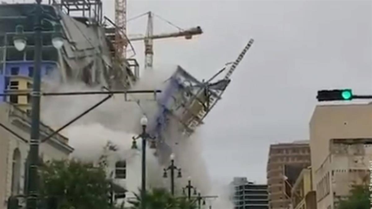 美興建中飯店大樓突坍塌 釀1死18傷3失蹤