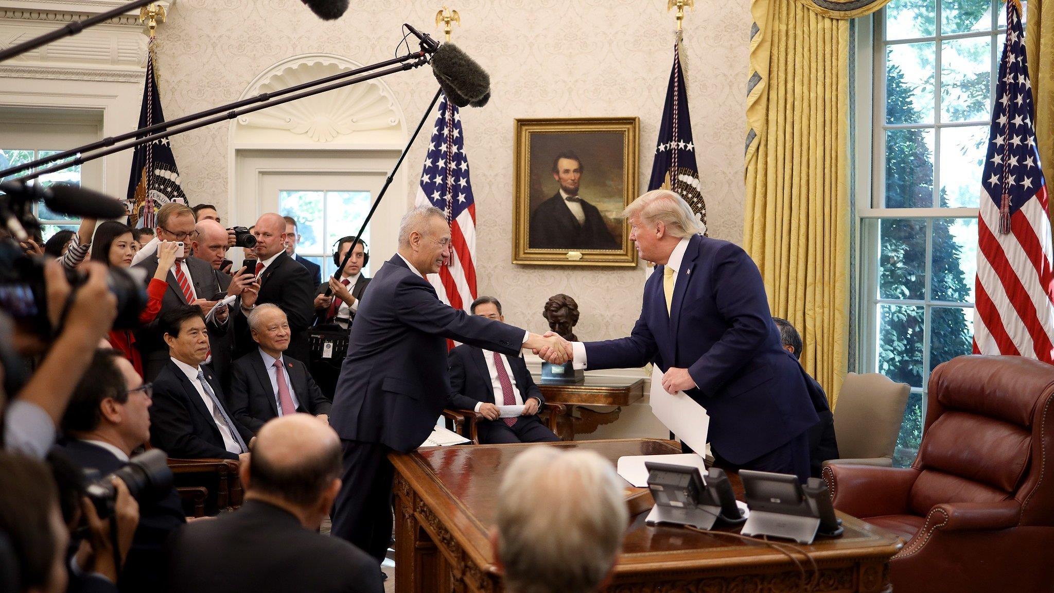中美貿易談判:特朗普說達成「相當實質性的第一階段協議」