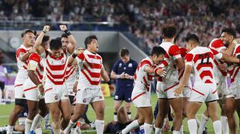 世界盃橄欖球賽日本晉級8強 寫歷史新頁