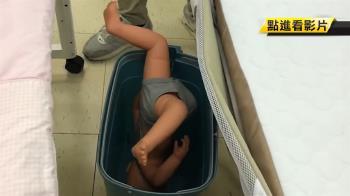 男嬰倒栽蔥 跌進床邊垃圾桶…臉發青送醫急救