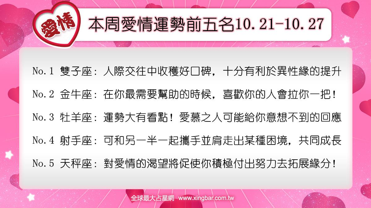 12星座本周愛情吉日吉時(10.21-10.27)