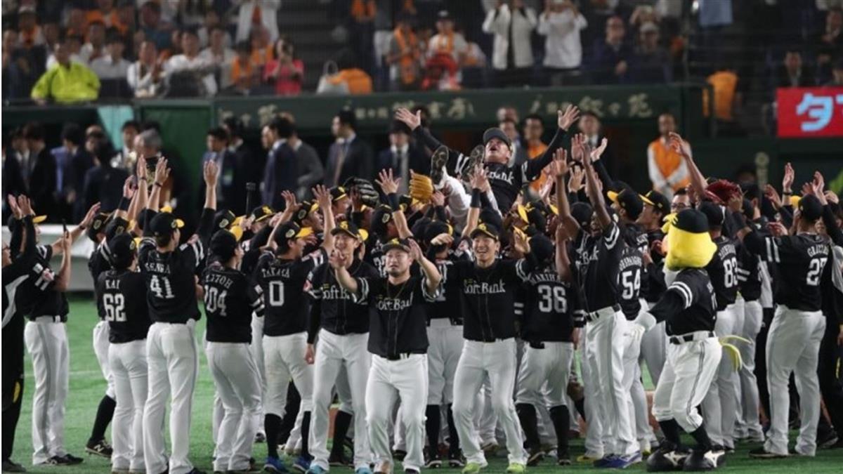 日職 / 軟銀橫掃巨人封王3連霸 季後賽狂拿10連勝