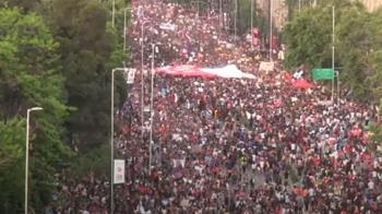 智利爆發史上最大示威 百萬人要總統下台